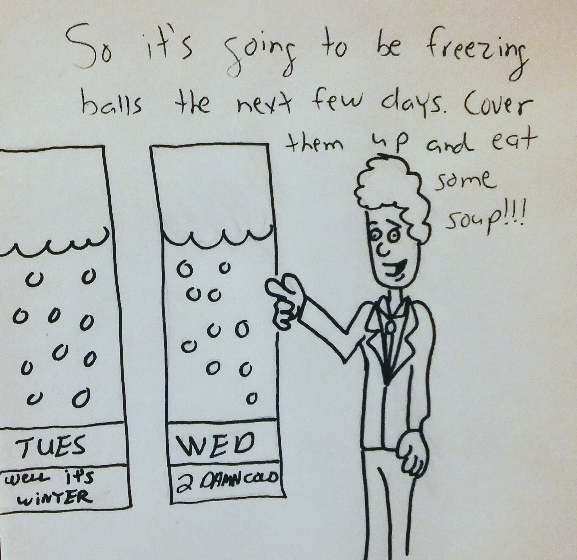Chilly forecast