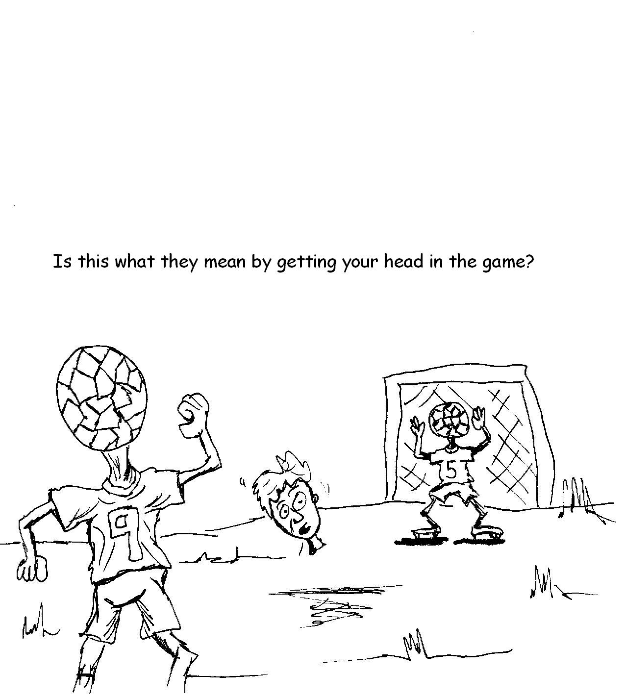 soccer head in the game